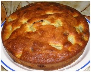 Gâteau de poires caramélisées au lait de coco