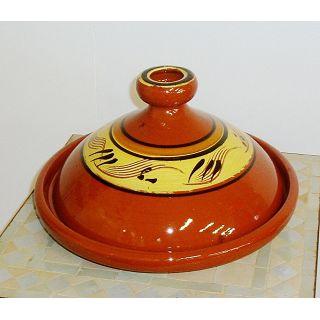 Tajine orientale en terre cuite tout l 39 lectro m nager - Cuisiner avec un tajine en terre cuite ...