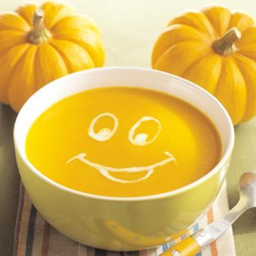 soupe orange d'halloween