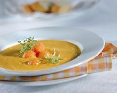 soupe au potiron et aux légumes