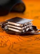 mille feuille de chocolat à la mousse de mandarine