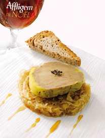 foie gras mi cuit au torchon au parfum d 39 affligem et sa choucroute confite de david zuddas. Black Bedroom Furniture Sets. Home Design Ideas