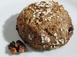 Pain tout rond au potiron, marron et noix