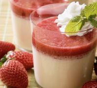 Bavarois à la vanille et ses fraises