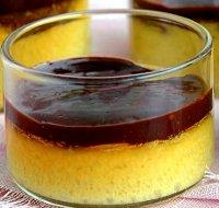 Flan à la noix de coco râpée chocolat