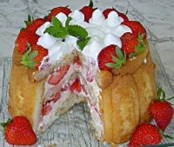 Charlotte aux fraises individuelle toutes les recettes - Jeux de charlotte aux fraises cuisine gateaux ...