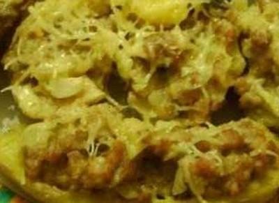 Pommes de terre aux champignons gratinées à la raclette