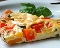 Omelette aux légumes grillés