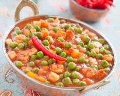 Curry de poulet aux petits pois