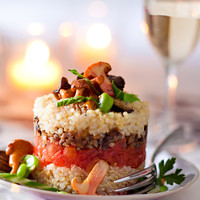 Gâteaux de quinoa aux champignons