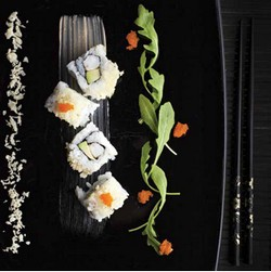 California crevette tempura et sa sauce à la Fourme d'Ambert épicée