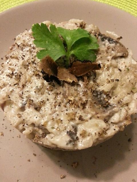 Risotto aux champignons de Paris saveur truffée