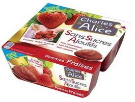 Compote Pommes Fraises Sans Sucres Ajoutés