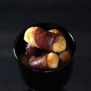 Bouchées de pomme de terre au magret de canard