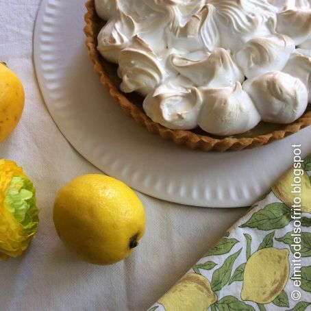 Tarte au citron a la meringue francaise