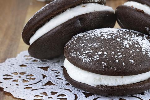 Whoopie Pie au chocolat et à la vanille
