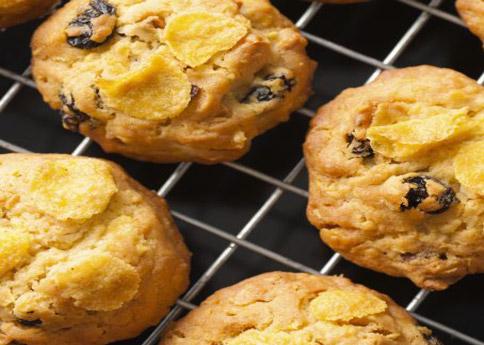 Cookies aux raisins secs et corn flakes