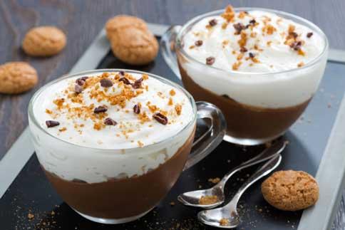 Verrine chocolat et crème mascarpone