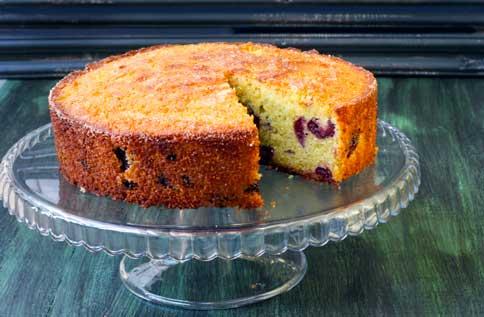 Gâteau amandes et cerises