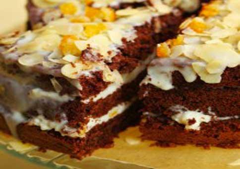 Gâteau crème et amandes