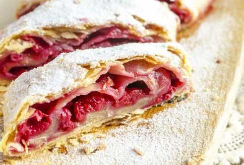 Strudel aux fruits rouges