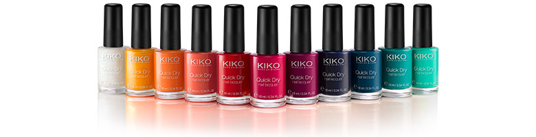 vernis quick dry nail lacquer kiko toute la beaut est sur confidentielles. Black Bedroom Furniture Sets. Home Design Ideas